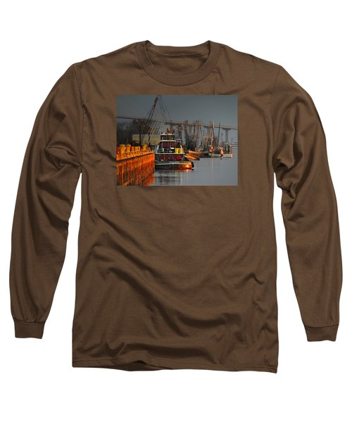 On The Waterfront Long Sleeve T-Shirt by Laura Ragland
