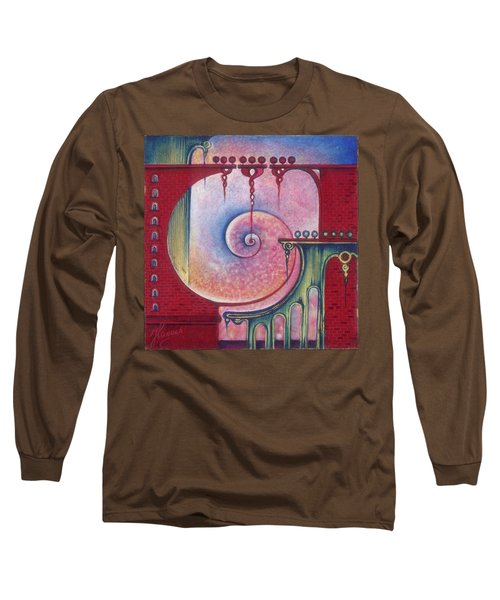 Long Sleeve T-Shirt featuring the painting On The Way To The Treasury by Anna Ewa Miarczynska