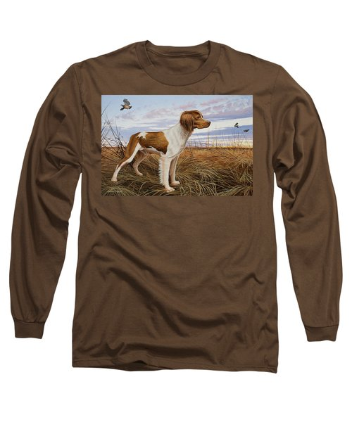 On Watch - Brittany Spaniel Long Sleeve T-Shirt