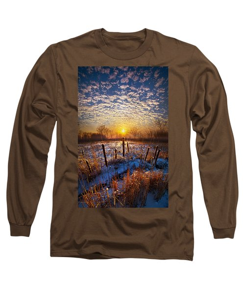 One Day At A Time Long Sleeve T-Shirt by Phil Koch