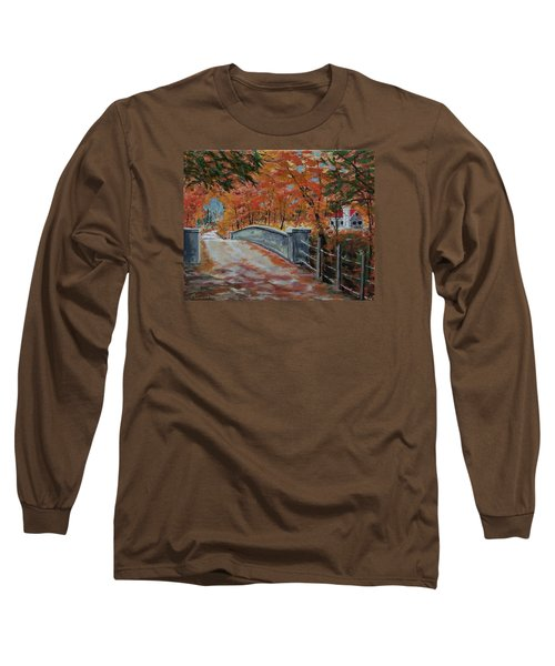 One Lane Bridge Long Sleeve T-Shirt by Mike Caitham