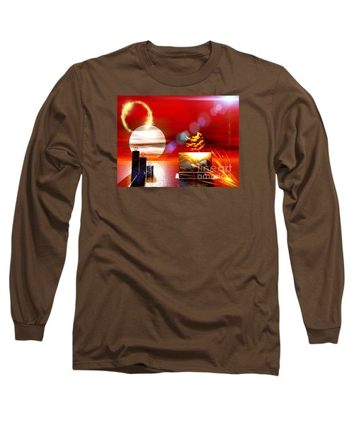 Long Sleeve T-Shirt featuring the digital art One Step Beyound by Jacqueline Lloyd