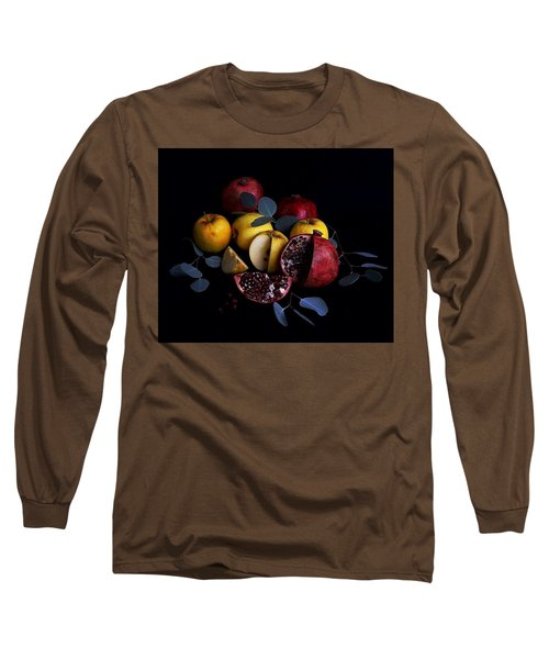 Opal Apples And Pomegranates Long Sleeve T-Shirt