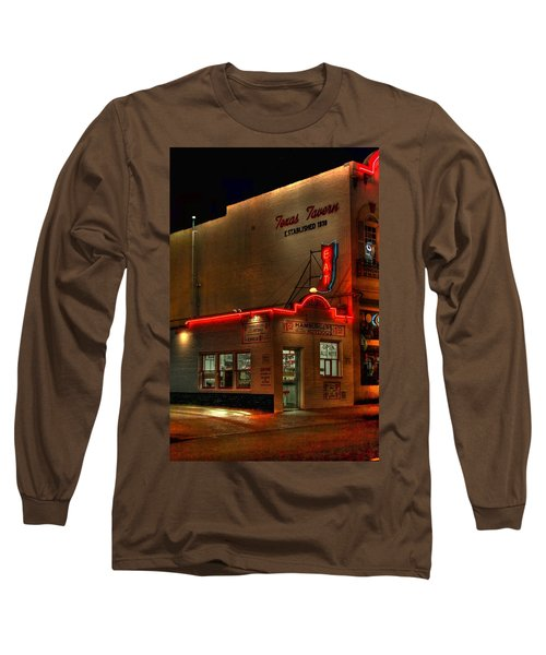 Open All Nite-texas Tavern Long Sleeve T-Shirt