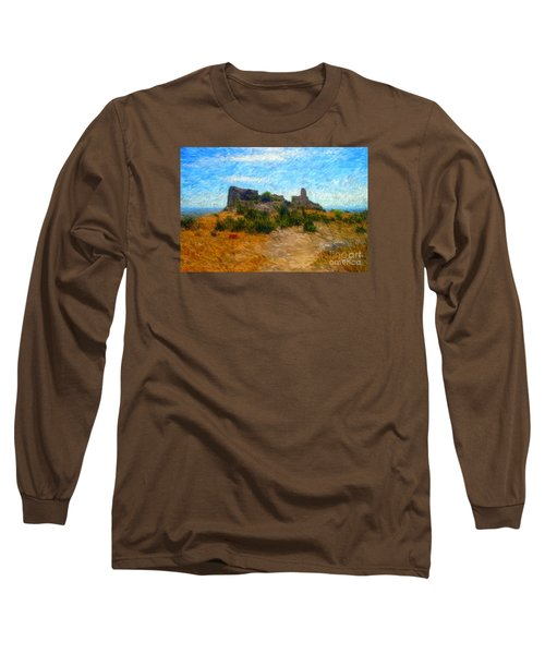 Opoul Castle Ruins II Long Sleeve T-Shirt by Gerhardt Isringhaus