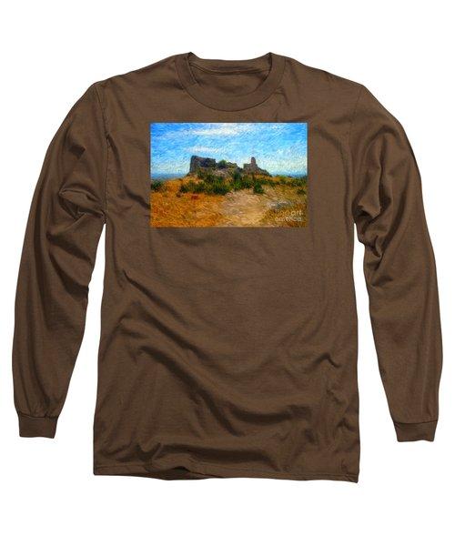 Opoul Castle Ruins II Long Sleeve T-Shirt