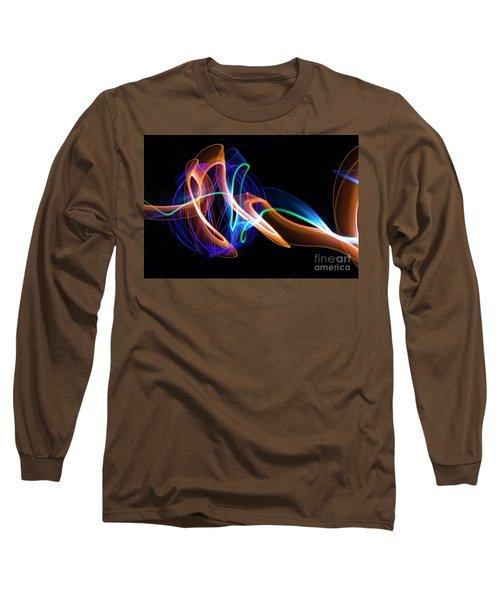 Orange And Blue Orb Long Sleeve T-Shirt