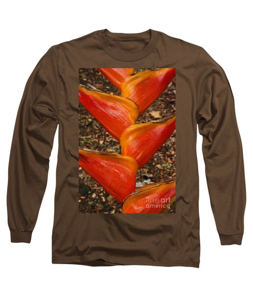 Orange And Red Haleconia Long Sleeve T-Shirt