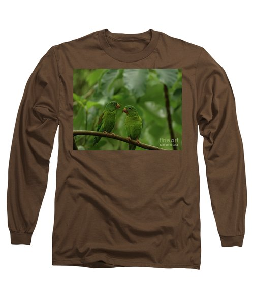 Orange-chinned Parakeets-  Long Sleeve T-Shirt