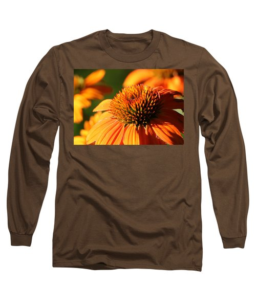 Orange Coneflower At First Light Long Sleeve T-Shirt