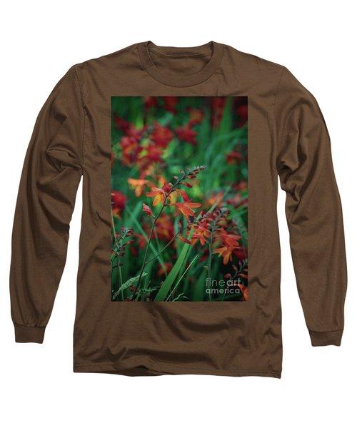 Orange Flowers 8 Long Sleeve T-Shirt