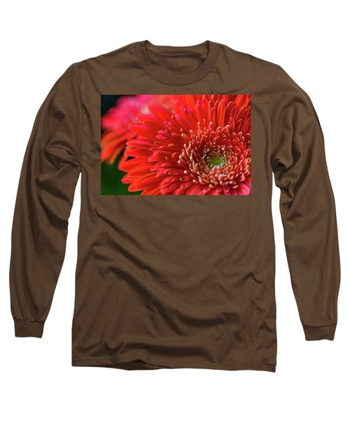 Long Sleeve T-Shirt featuring the photograph Orange Gerbera by Clare Bambers
