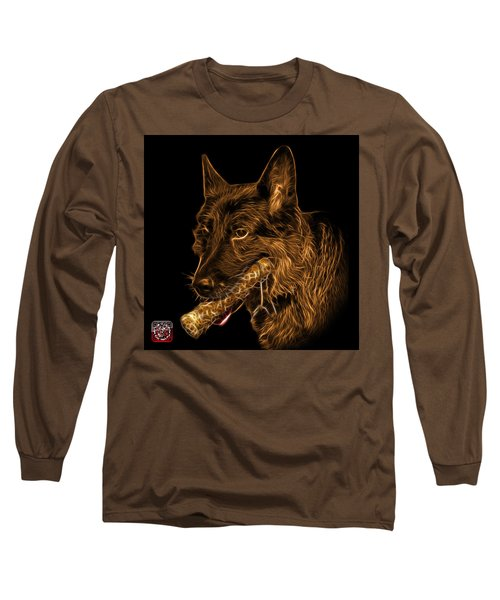 Long Sleeve T-Shirt featuring the digital art Orange German Shepherd And Toy - 0745 F by James Ahn