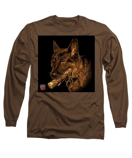 Orange German Shepherd And Toy - 0745 F Long Sleeve T-Shirt