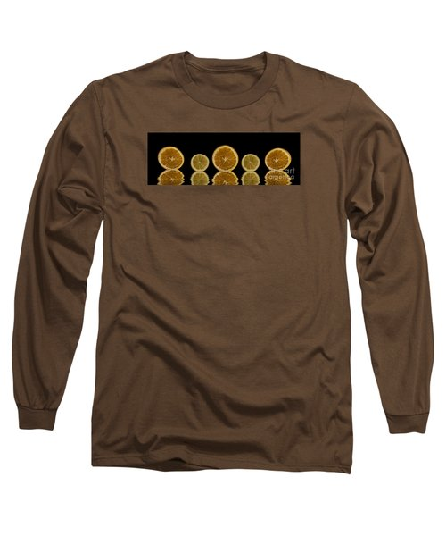 Orange Lemon Reflection Long Sleeve T-Shirt