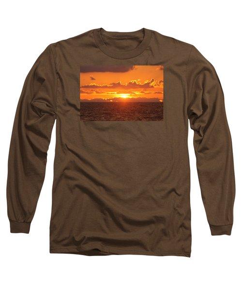 Orange Skies At Dawn Long Sleeve T-Shirt by Robert Banach