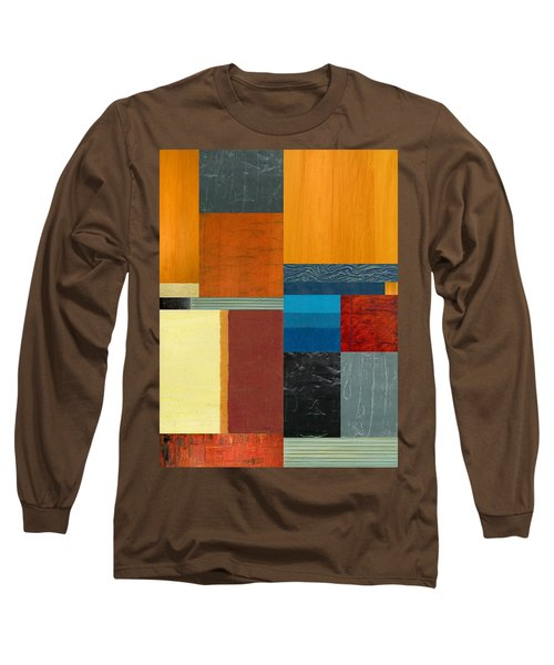 Long Sleeve T-Shirt featuring the painting Orange Study With Compliments 3.0 by Michelle Calkins