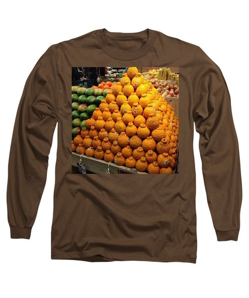 Orange You A Fan Of Terrible Puns? Long Sleeve T-Shirt by Kate Arsenault