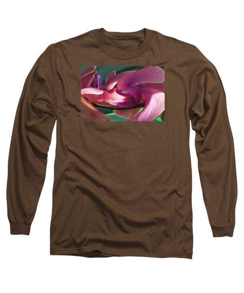 Long Sleeve T-Shirt featuring the digital art Orchid Variation Borderless by David Klaboe
