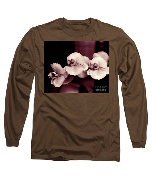 Orchids Hawaii Long Sleeve T-Shirt by Mukta Gupta