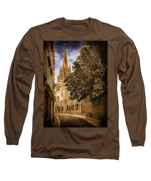 Oxford, England - Oriel Street Long Sleeve T-Shirt