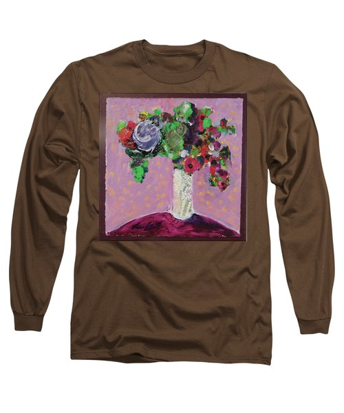 Original Bouquetaday Floral Painting 12x12 On Canvas, By Elaine Elliott, 59.00 Incl. Shipping Long Sleeve T-Shirt