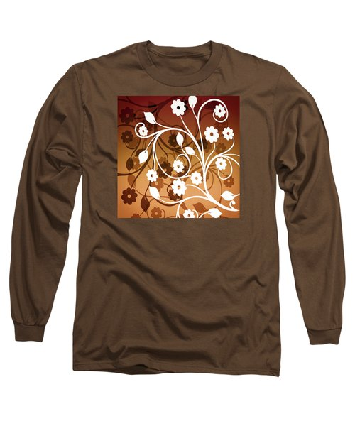 Long Sleeve T-Shirt featuring the digital art Ornamental 2 Warm by Angelina Vick