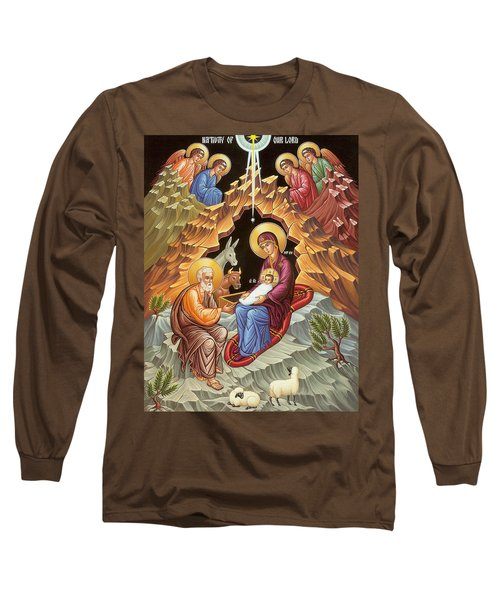 Orthodox Nativity Scene Long Sleeve T-Shirt by Munir Alawi