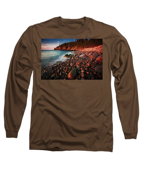Long Sleeve T-Shirt featuring the photograph Otter Beach Main After The First Light  by Emmanuel Panagiotakis