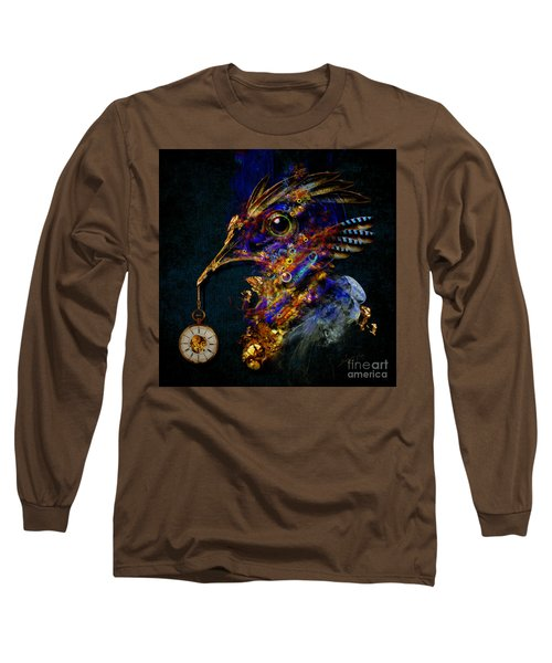 Long Sleeve T-Shirt featuring the painting Outside Of Time by Alexa Szlavics