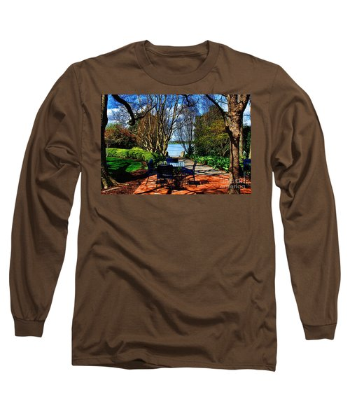 Overlook Cafe Long Sleeve T-Shirt by Diana Mary Sharpton