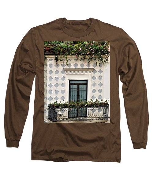 Overlooking The Piazza Long Sleeve T-Shirt