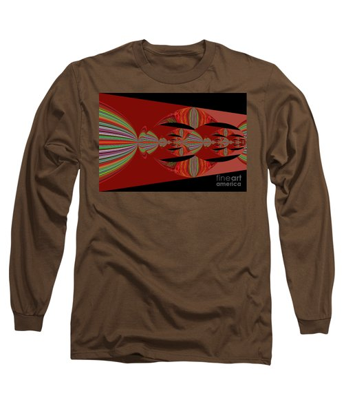 Red Abstract Ovs 26 Long Sleeve T-Shirt