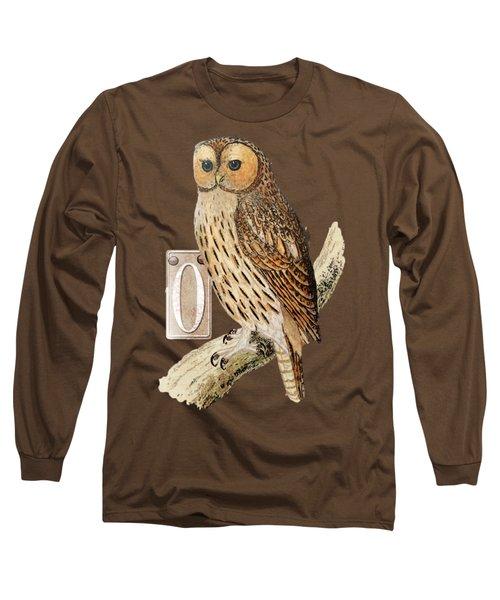 Long Sleeve T-Shirt featuring the digital art Owl T Shirt Design by Bellesouth Studio