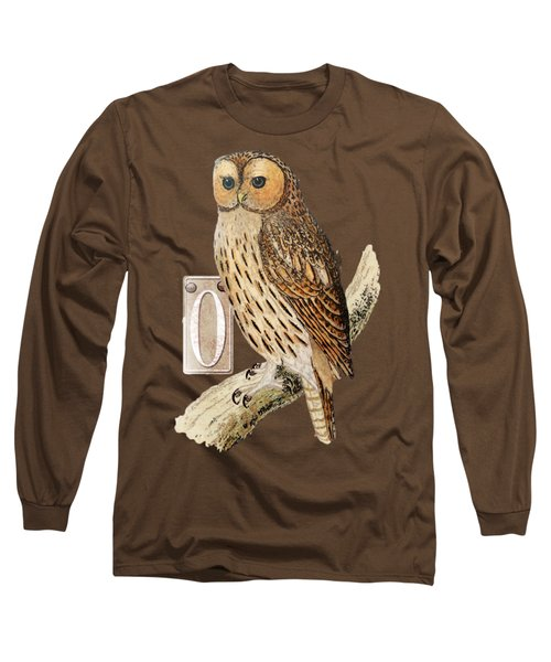 Owl T Shirt Design Long Sleeve T-Shirt