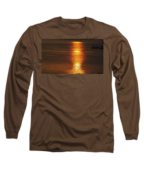 Ozark Lake Sunset Long Sleeve T-Shirt by Don Koester