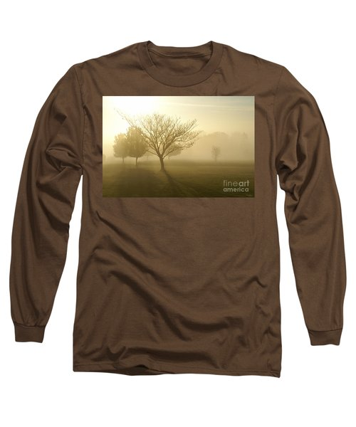 Ozarks Misty Golden Morning Sunrise Long Sleeve T-Shirt