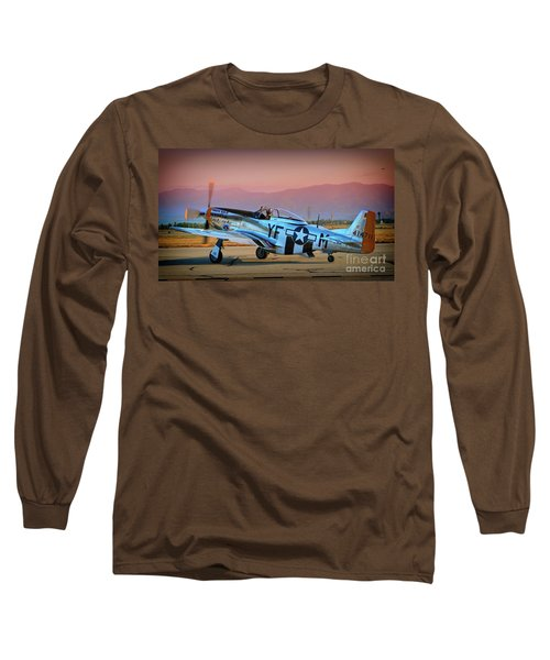 P-51d Mustang 'dakota Kid II. The Long Island Kid' And Casey Odegaard Long Sleeve T-Shirt