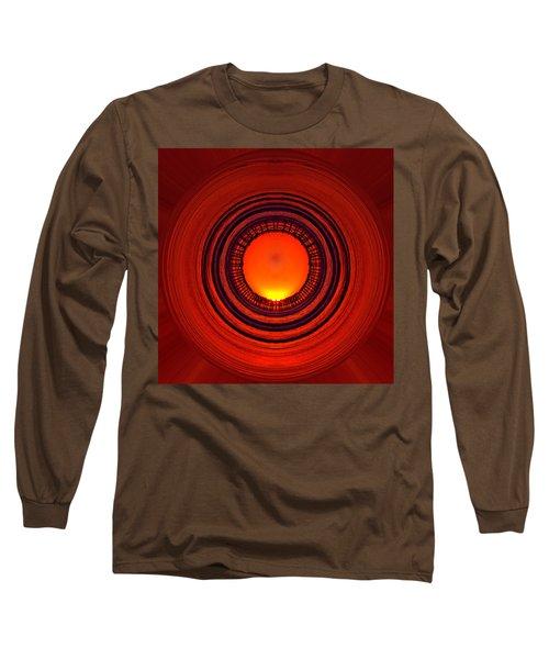 Pacific Beach Pier Sunset - Abstract Long Sleeve T-Shirt