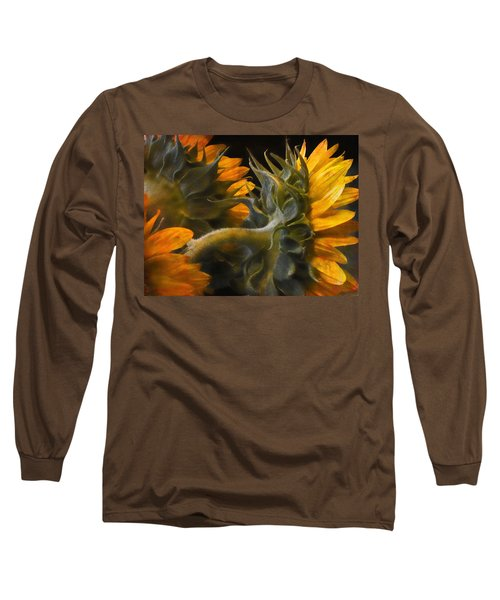 Long Sleeve T-Shirt featuring the photograph Painted Sun Flowers by John Rivera