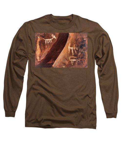 Palatki Pictographs9 Pnt Long Sleeve T-Shirt