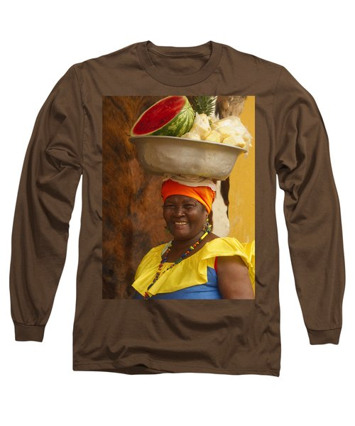 Palenquera In Cartagena Colombia Long Sleeve T-Shirt