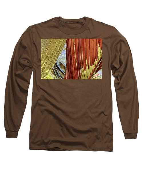 Long Sleeve T-Shirt featuring the photograph Palm Leaf Abstract by Ben and Raisa Gertsberg