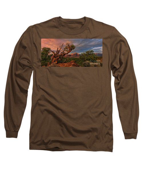 Long Sleeve T-Shirt featuring the photograph Panorama Storm Back Of Zion Near Hurricane Utah by Dave Welling