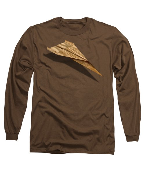 Paper Airplanes Of Wood 3 Long Sleeve T-Shirt by YoPedro