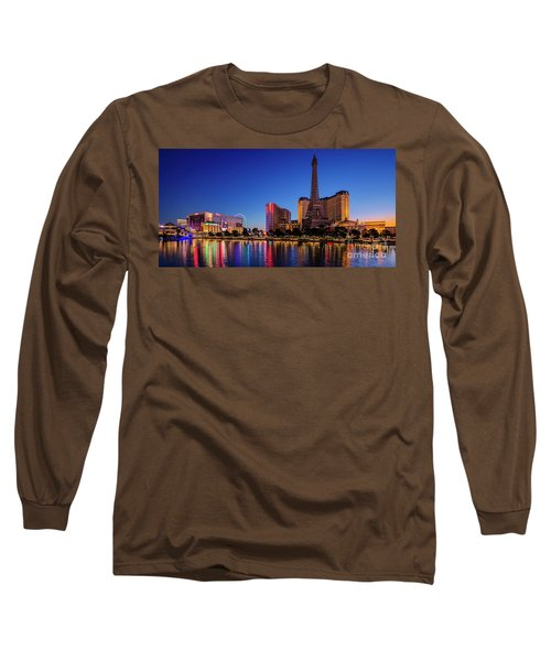 Paris Casino At Dawn 2 To 1 Ratio Long Sleeve T-Shirt