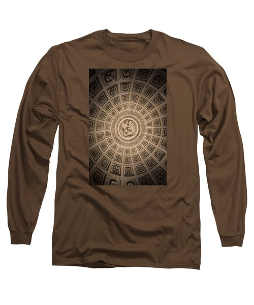 Long Sleeve T-Shirt featuring the photograph Paris Pantheon Ceiling by Jean Haynes