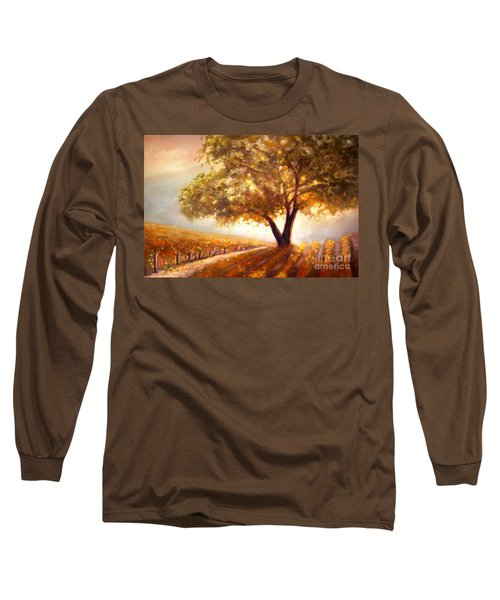 Long Sleeve T-Shirt featuring the painting Paso Robles Golden Oak by Michael Rock