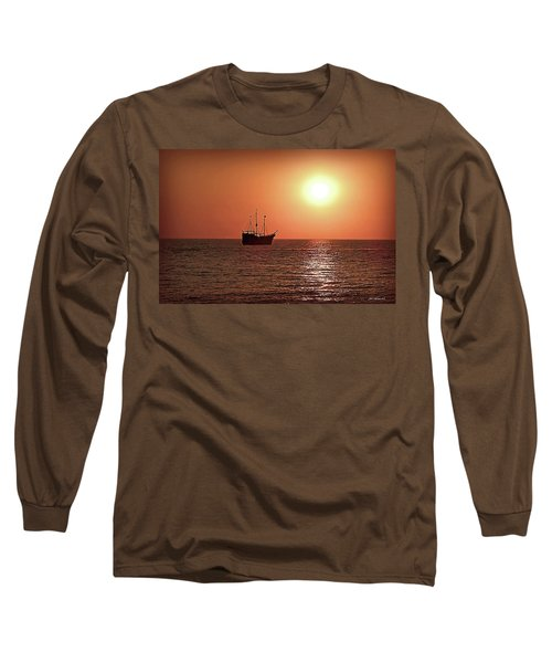 Long Sleeve T-Shirt featuring the photograph Passing By In Calm Waters by Joan  Minchak