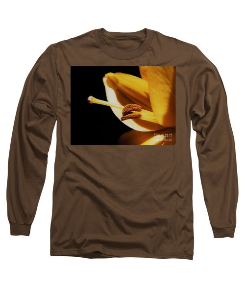 Passionate Yellow Lily Long Sleeve T-Shirt